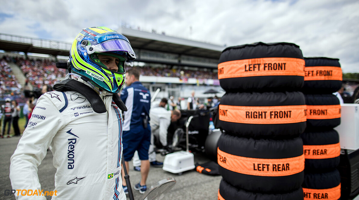 Hockenheim, Germany. Sunday 31 July 2016. Felipe Massa, Williams Martini Racing, on the grid. Photo: Glenn Dunbar/Williams ref: Digital Image _V2I5930      Portrait Helmets