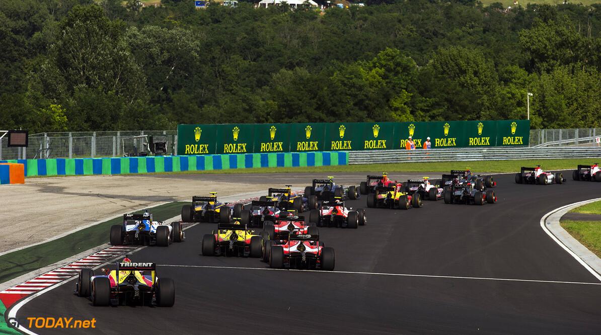 2016 GP2 Series Round 6 Hungaroring, Budapest, Hungary. Saturday 23 July 2016. The GP2 field Photo: Sam Bloxham/GP2 Series Media Service. ref: Digital Image _SLA7207  Sam Bloxham    Race One Feature action