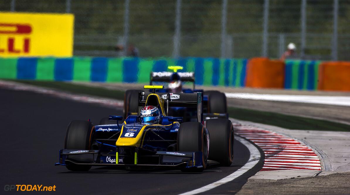 2016 GP2 Series Round 6 Hungaroring, Budapest, Hungary. Sunday 24 July 2016. Nicholas Latifi (CAN, DAMS)  Photo: Sam Bloxham/GP2 Series Media Service. ref: Digital Image _SLA8015  Sam Bloxham    Race Two Sprint action