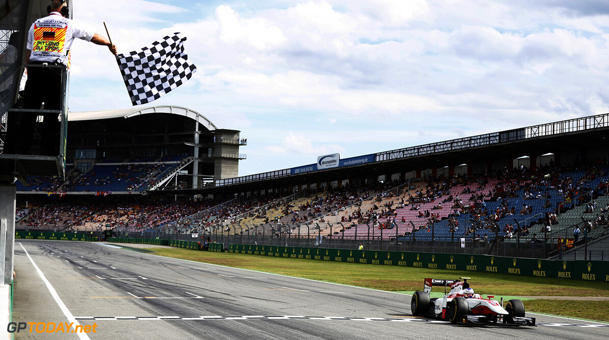 Sergey Sirotkin (RUS, ART Grand Prix) crosses the line to take the victory. 2016 GP2 Series Round 7 Hockenheim, Germany Saturday 30 July 2016  Photo: /GP2 Series Media Service ref: Digital Image _V2I4334      ts-live