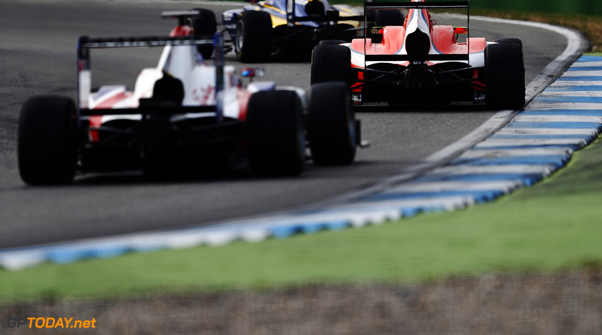 The final laps of the second GP3 race.