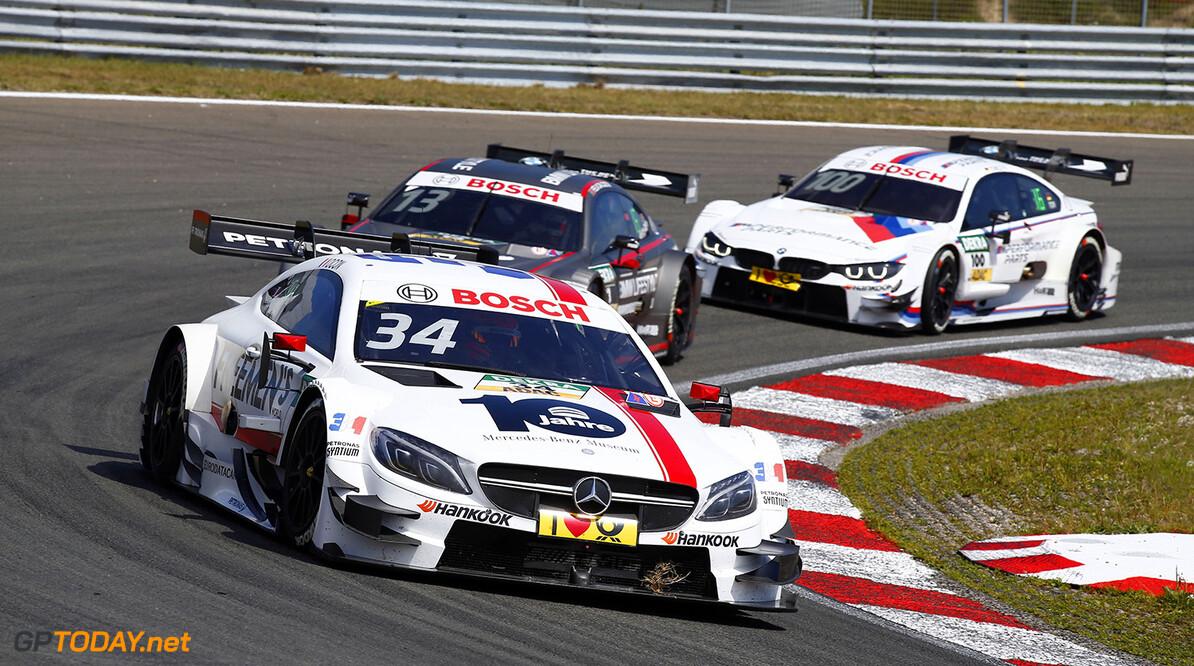 #34 Esteban Ocon; Mercedes-AMG C63 DTM; #13 Ant?nio F?lix da Costa; BMW M4 DTM; #100 Martin Tomczyk; BMW 4 DTM