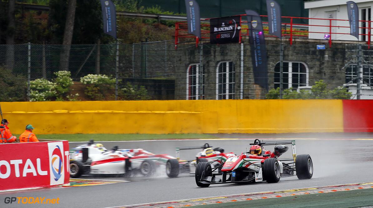 FIA Formula 3 European Championship, round 7, race 1, Spa-Franco 1 Lance Stroll (CAN, Prema Powerteam, Dallara F312 - Mercedes-Benz), 17 Maximilian G?nther (DEU, Prema Powerteam, Dallara F312 - Mercedes-Benz), 2 Nick Cassidy (NZL, Prema Powerteam, Dallara F312 - Mercedes-Benz), 24 Ben Barnicoat (GBR, HitechGP, Dallara F312 - Mercedes-Benz), FIA Formula 3 European Championship, round 7, race 1, Spa-Francorchamps (BEL), 28. - 30. July 2016 FIA Formula 3 European Championship 2016, round 7, race 1, Spa-Francorchamps (BEL) Thomas Suer Spa-Francorchamps Belgium