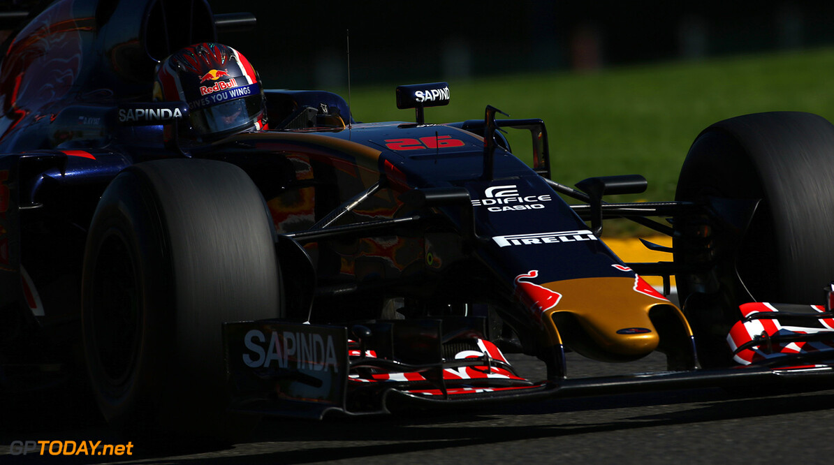 SPA, BELGIUM - AUGUST 26: Daniil Kvyat of Russia driving the (26) Scuderia Toro Rosso STR11 Ferrari 060/5 turbo on track during practice for the Formula One Grand Prix of Belgium at Circuit de Spa-Francorchamps on August 26, 2016 in Spa, Belgium.  (Photo by Charles Coates/Getty Images) // Getty Images / Red Bull Content Pool  // P-20160826-00923 // Usage for editorial use only // Please go to www.redbullcontentpool.com for further information. //  F1 Grand Prix of Belgium - Practice Charles Coates Spa Belgium  P-20160826-00923