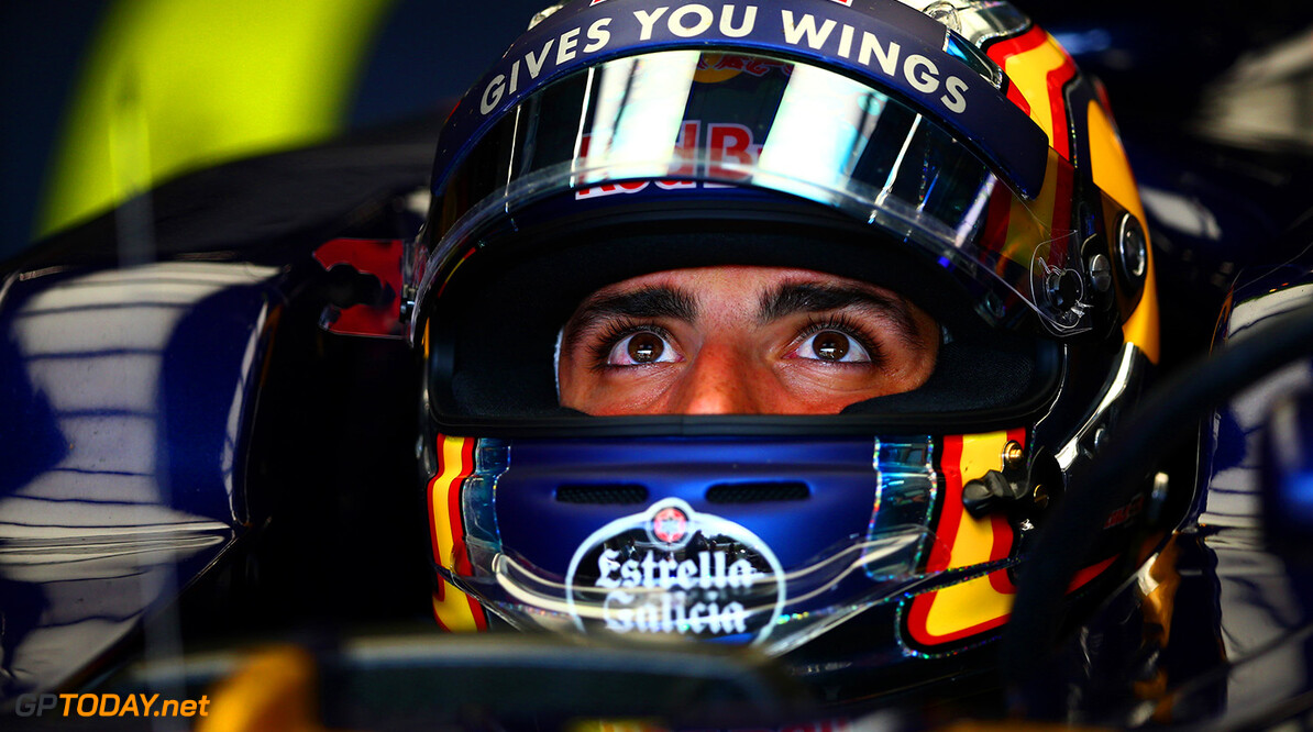 SPA, BELGIUM - AUGUST 26:  Carlos Sainz of Spain and Scuderia Toro Rosso sits in his car in the garage during practice for the Formula One Grand Prix of Belgium at Circuit de Spa-Francorchamps on August 26, 2016 in Spa, Belgium.  (Photo by Dan Istitene/Getty Images) // Getty Images / Red Bull Content Pool  // P-20160826-01191 // Usage for editorial use only // Please go to www.redbullcontentpool.com for further information. //  F1 Grand Prix of Belgium - Practice Dan Istitene Spa Belgium  P-20160826-01191
