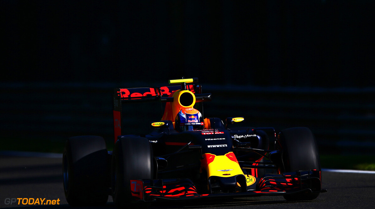 SPA, BELGIUM - AUGUST 26:  Max Verstappen of the Netherlands driving the (33) Red Bull Racing Red Bull-TAG Heuer RB12 TAG Heuer on track during practice for the Formula One Grand Prix of Belgium at Circuit de Spa-Francorchamps on August 26, 2016 in Spa, Belgium.  (Photo by Dan Istitene/Getty Images) // Getty Images / Red Bull Content Pool  // P-20160826-00414 // Usage for editorial use only // Please go to www.redbullcontentpool.com for further information. //  F1 Grand Prix of Belgium - Practice Dan Istitene Spa Belgium  P-20160826-00414