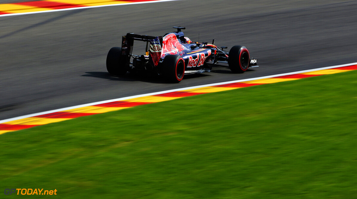 SPA, BELGIUM - AUGUST 26: Daniil Kvyat of Russia driving the (26) Scuderia Toro Rosso STR11 Ferrari 060/5 turbo on track during practice for the Formula One Grand Prix of Belgium at Circuit de Spa-Francorchamps on August 26, 2016 in Spa, Belgium.  (Photo by Charles Coates/Getty Images) // Getty Images / Red Bull Content Pool  // P-20160826-01253 // Usage for editorial use only // Please go to www.redbullcontentpool.com for further information. //  F1 Grand Prix of Belgium - Practice Charles Coates Spa Belgium  P-20160826-01253
