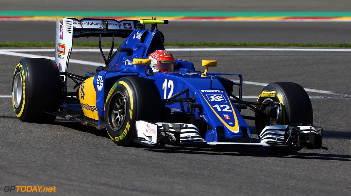 Belgian GP Friday 26/08/16 Felipe Nasr (BRA) Sauber F1 Team.  Circuit Spa-Francorchamps.  Belgian GP Friday 26/08/16 Jad Sherif                       Spa-Francorchamps Belgium  F1 Formula 1 One 2016 action Nasr Sauber