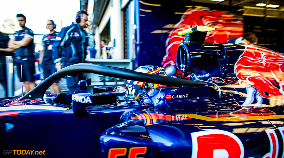 SPA, BELGIUM - AUGUST 26:  Carlos Sainz of Scuderia Toro Rosso and Spain during practice for the Formula One Grand Prix of Belgium at Circuit de Spa-Francorchamps on August 26, 2016 in Spa, Belgium.  (Photo by Peter Fox/Getty Images) // Getty Images / Red Bull Content Pool  // P-20160826-00801 // Usage for editorial use only // Please go to www.redbullcontentpool.com for further information. //  F1 Grand Prix of Belgium - Practice Peter Fox Spa Belgium  P-20160826-00801