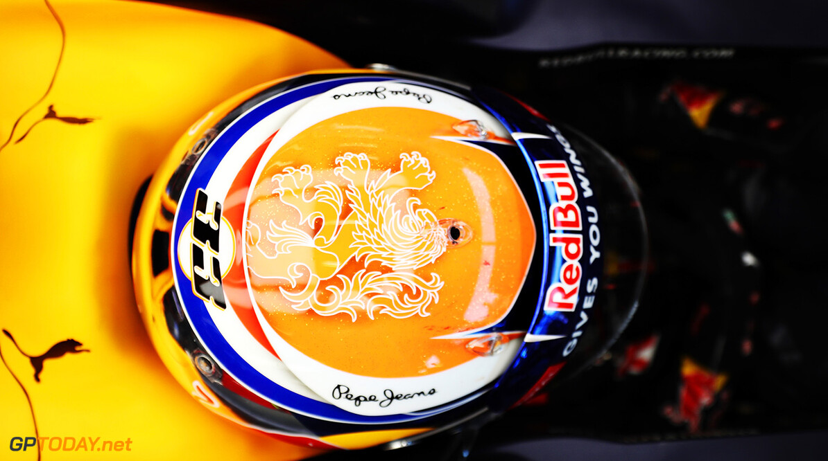 SPA, BELGIUM - AUGUST 26: A view of the top of the helmet of Max Verstappen of Netherlands and Red Bull Racing in the garage during practice for the Formula One Grand Prix of Belgium at Circuit de Spa-Francorchamps on August 26, 2016 in Spa, Belgium.  (Photo by Mark Thompson/Getty Images) // Getty Images / Red Bull Content Pool  // P-20160826-00822 // Usage for editorial use only // Please go to www.redbullcontentpool.com for further information. //  F1 Grand Prix of Belgium - Practice Mark Thompson Spa Belgium  P-20160826-00822