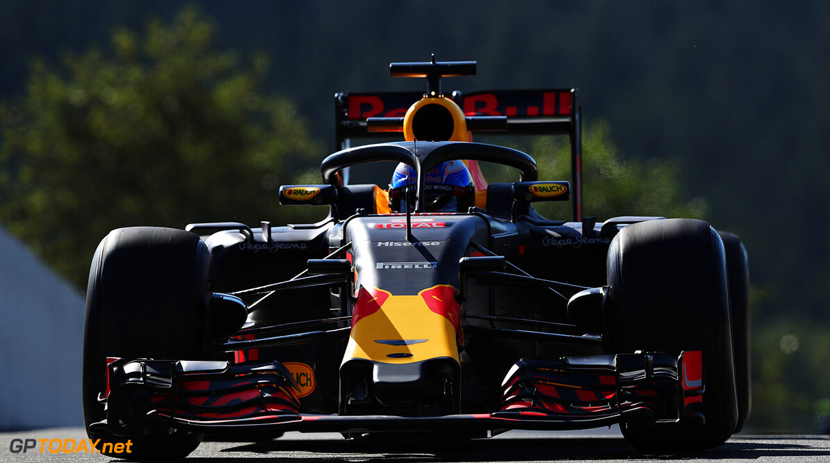SPA, BELGIUM - AUGUST 26: Daniel Ricciardo of Australia driving the (3) Red Bull Racing Red Bull-TAG Heuer RB12 TAG Heuer fitted with the halo on track during practice for the Formula One Grand Prix of Belgium at Circuit de Spa-Francorchamps on August 26, 2016 in Spa, Belgium.  (Photo by Mark Thompson/Getty Images) // Getty Images / Red Bull Content Pool  // P-20160826-00421 // Usage for editorial use only // Please go to www.redbullcontentpool.com for further information. //  F1 Grand Prix of Belgium - Practice Mark Thompson Spa Belgium  P-20160826-00421