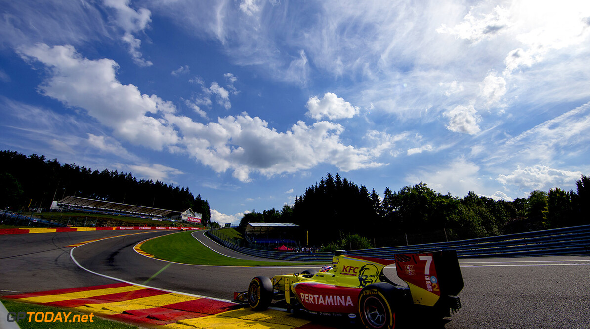 2016 GP2 Series Round 8.  Spa-Francorchamps, Spa, Belgium. Friday 26 August 2016. Mitch Evans (NZL, Pertamina Campos Racing)  Photo: Zak Mauger/GP2 Series Media Service. ref: Digital Image _X0W1559   Zak Mauger    Qualifying