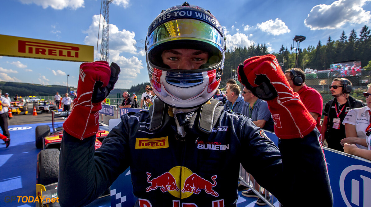 2016 GP2 Series Round 8.  Spa-Francorchamps, Spa, Belgium. Saturday 27 August 2016. Pierre Gasly (FRA, PREMA Racing)  Photo: Zak Mauger/GP2 Series Media Service. ref: Digital Image _L0U1106   Zak Mauger    Race One 1 Feature portrait