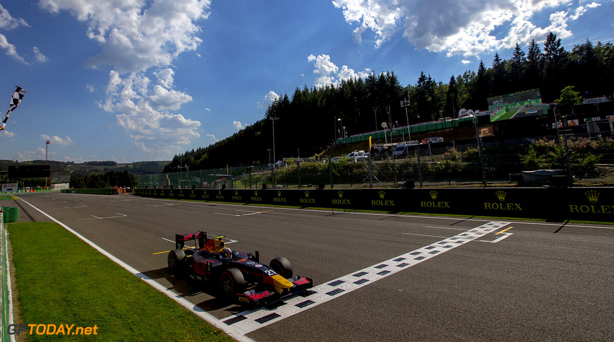 2016 GP2 Series Round 8.  Spa-Francorchamps, Spa, Belgium. Saturday 27 August 2016. Pierre Gasly (FRA, PREMA Racing)  Photo: Zak Mauger/GP2 Series Media Service. ref: Digital Image _L0U1003   Zak Mauger    Race One 1 Feature action