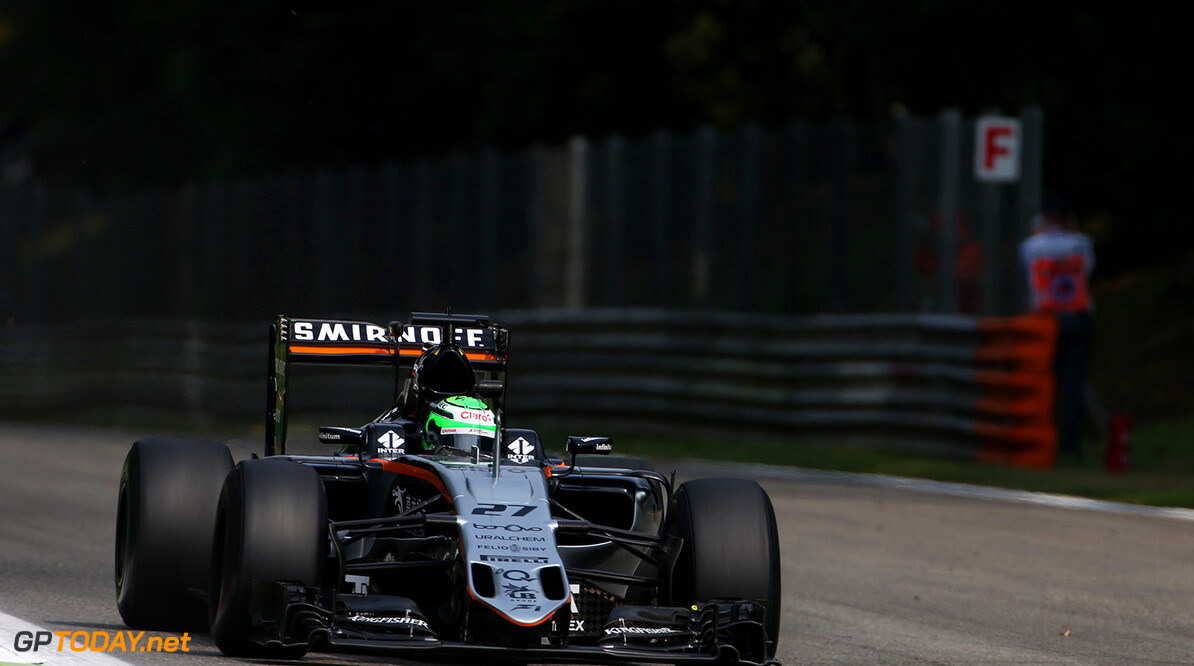 Formula One World Championship Nico Hulkenberg (GER) Sahara Force India F1 VJM09. Italian Grand Prix, Friday 2nd September 2016. Monza Italy. Motor Racing - Formula One World Championship - Italian Grand Prix - Practice Day - Monza, Italy James Moy Photography Monza Italy  Formula One Formula 1 F1 GP Grand Prix Circuit Italy Italian Monza Autodromo di Monza JM618 Hulkenberg H?lkenberg Huelkenberg Action Track GP1614b