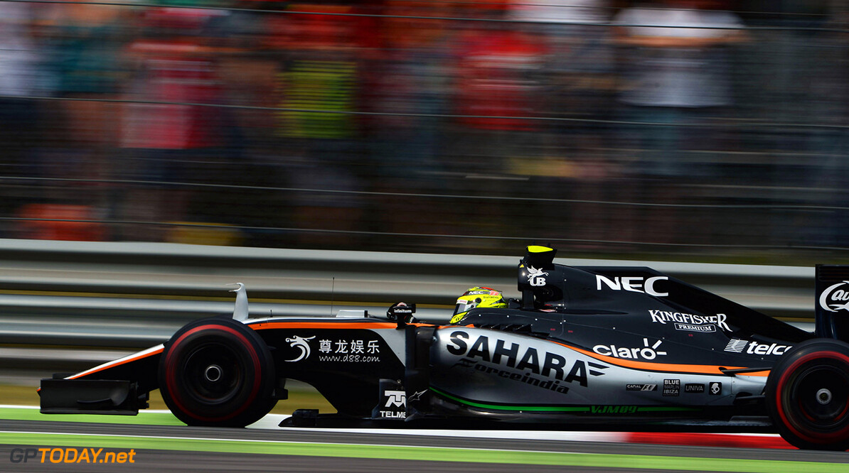 Formula One World Championship Sergio Perez (MEX) Sahara Force India F1 VJM09. Italian Grand Prix, Sunday 4th September 2016. Monza Italy. Motor Racing - Formula One World Championship - Italian Grand Prix - Race Day - Monza, Italy James Moy Photography Monza Italy  Formula One Formula 1 F1 GP Grand Prix Circuit Italy Italian Monza Autodromo di Monza JM620 Sergio P?rez Sergio P?rez Mendoza Checo Perez Checo P?rez Action Track GP1614d
