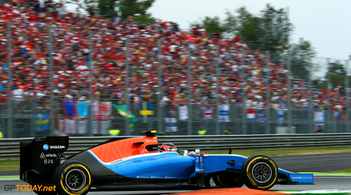 Formula One World Championship Esteban Ocon (FRA) Manor Racing MRT05. 04.09.2016. Formula 1 World Championship, Rd 14, Italian Grand Prix, Monza, Italy, Race Day. Motor Racing - Formula One World Championship - Italian Grand Prix - Race Day - Monza, Italy Manor Racing Monza Italy  Formel1 Formel F1 Formula 1 Formula1 GP Grand Prix one Autodromo di Monza September Sunday 04 4 09 9 2016