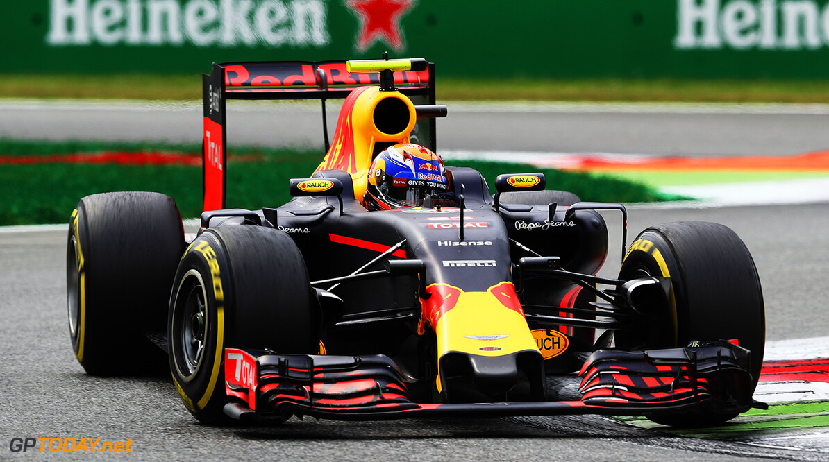MONZA, ITALY - SEPTEMBER 04: Max Verstappen of the Netherlands driving the (33) Red Bull Racing Red Bull-TAG Heuer RB12 TAG Heuer on track during the Formula One Grand Prix of Italy at Autodromo di Monza on September 4, 2016 in Monza, Italy.  (Photo by Mark Thompson/Getty Images) // Getty Images / Red Bull Content Pool  // P-20160904-01007 // Usage for editorial use only // Please go to www.redbullcontentpool.com for further information. //  F1 Grand Prix of Italy Mark Thompson Monza Italy  P-20160904-01007