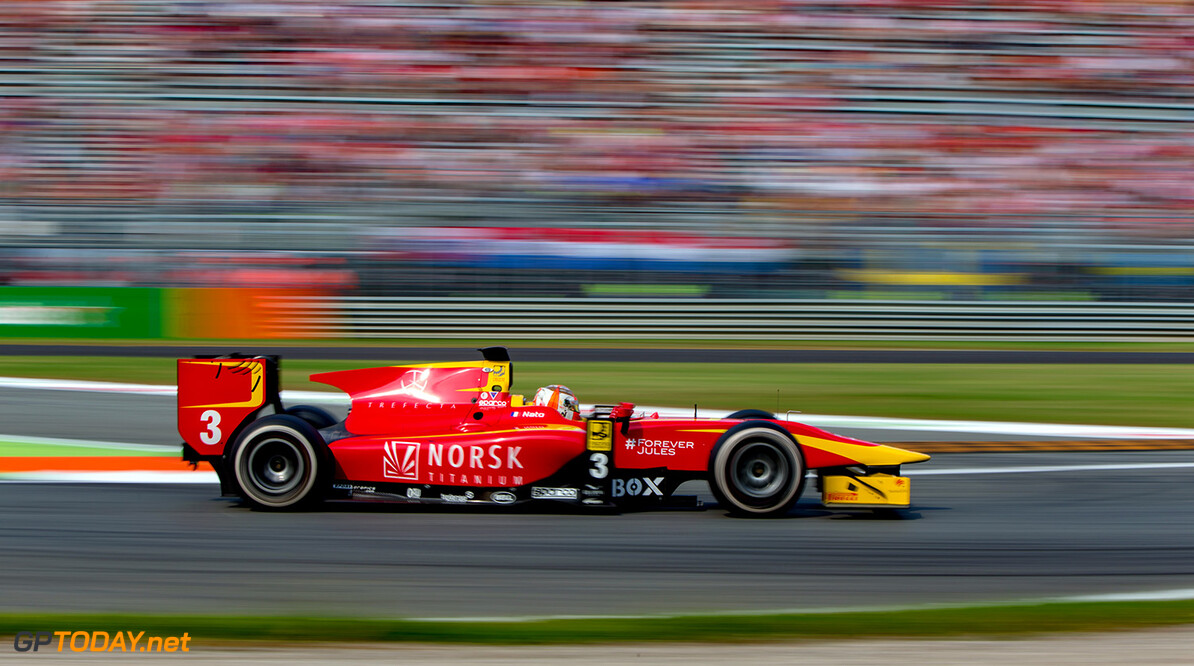 2016 GP2 Series Round 9. Autodromo Nazionale di Monza, Monza, Italy. Sunday 4 September 2016.Norman Nato (FRA, Racing Engineering)  Photo: Zak Mauger/GP2 Series Media Service. ref: Digital Image _L0U6026   Zak Mauger    Race Two 2 Sprint action