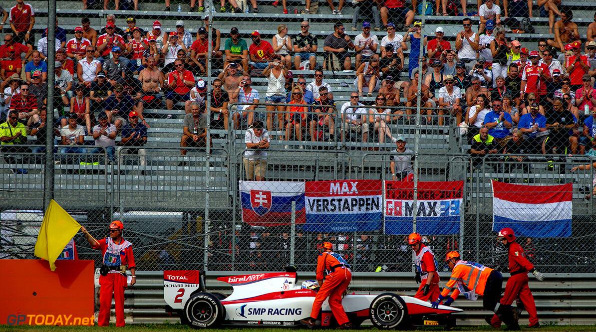 2016 GP2 Series Round 9. Autodromo Nazionale di Monza, Monza, Italy. Sunday 4 September 2016. Sergey Sirotkin (RUS, ART Grand Prix) retires. Photo: Zak Mauger/GP2 Series Media Service. ref: Digital Image _L0U5918   Zak Mauger    Race Two 2 Sprint action