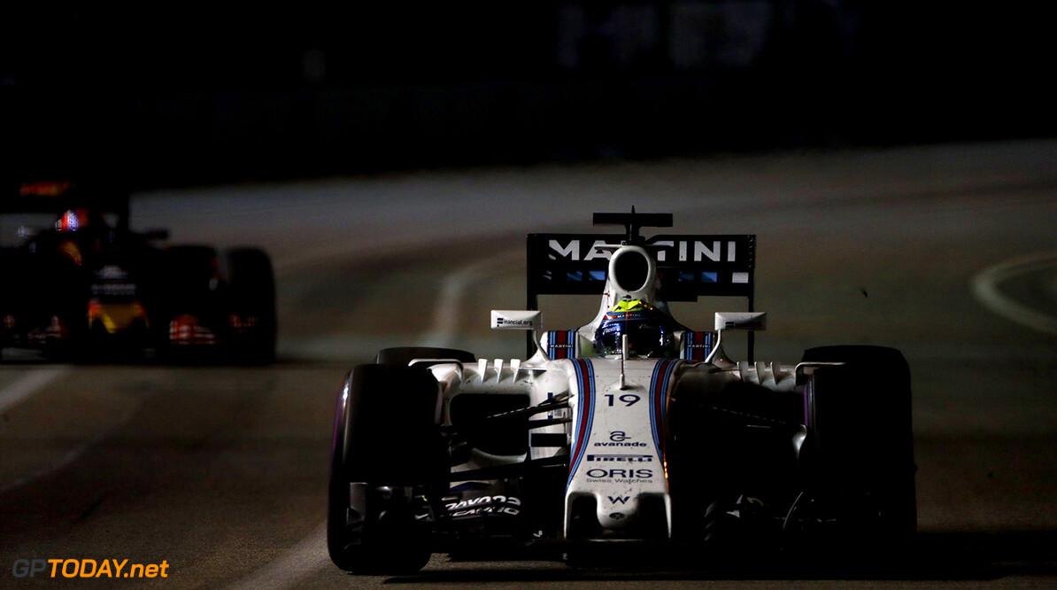 Marina Bay Circuit, Marina Bay, Singapore. Sunday 18 September 2016. Felipe Massa, Williams FW38 Mercedes. Photo: Glenn Dunbar/Williams ref: Digital Image _X4I6874  Glenn Dunbar    Action