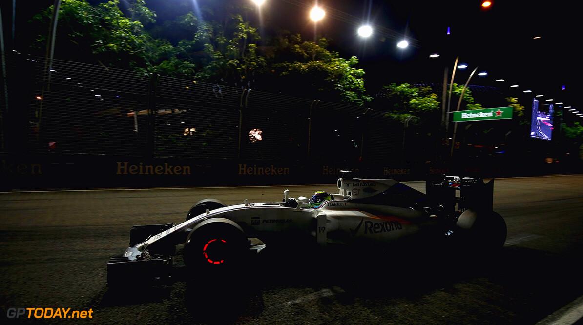 Marina Bay Circuit, Marina Bay, Singapore. Sunday 18 September 2016. Felipe Massa, Williams FW38 Mercedes. Photo: Andrew Hone/Williams ref: Digital Image _ONZ0719      Action