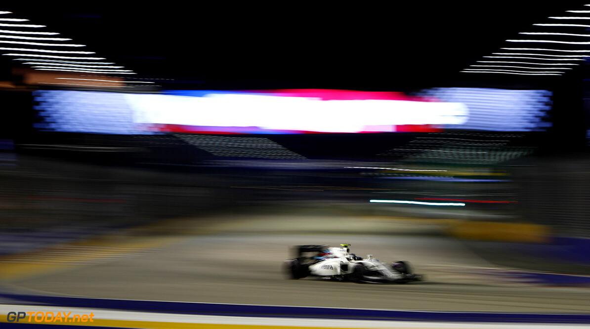 Marina Bay Circuit, Marina Bay, Singapore. Sunday 18 September 2016. Valtteri Bottas, Williams FW38 Mercedes. Photo: Andrew Ferraro/Williams ref: Digital Image _V2I0969      Action