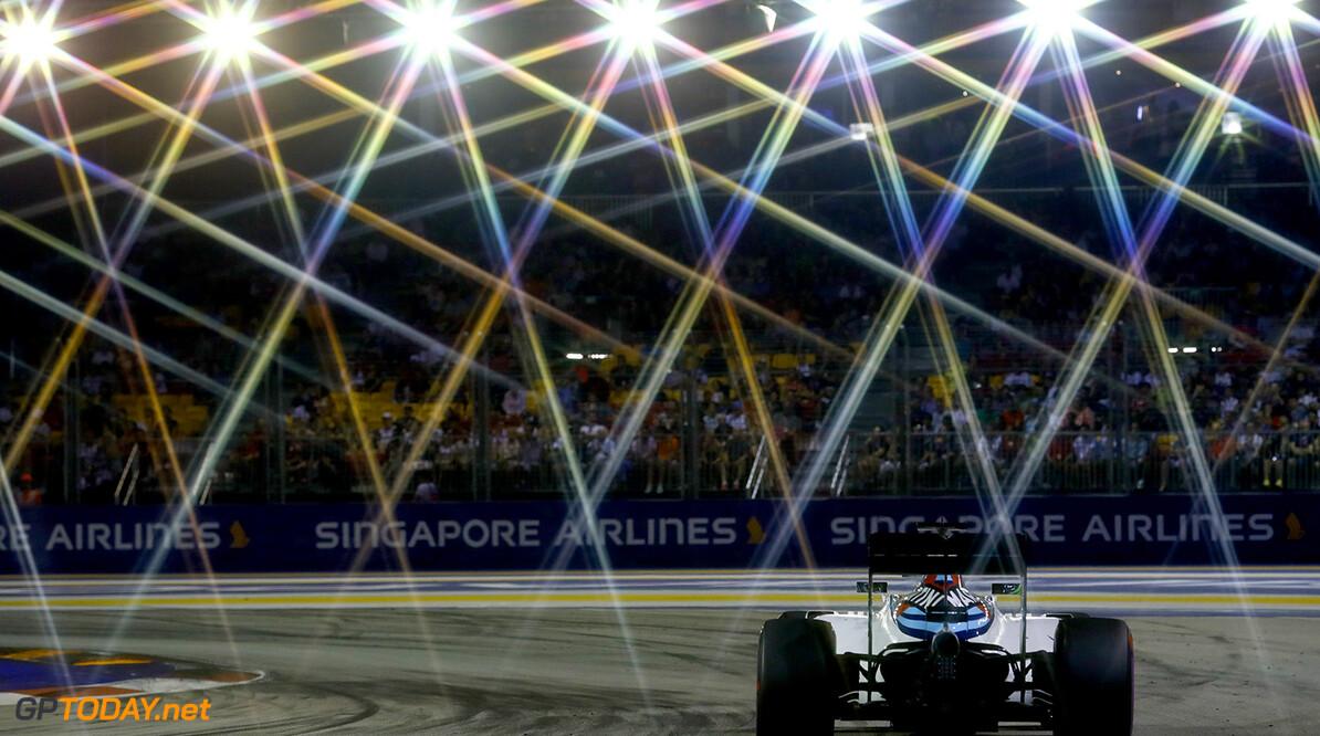 Marina Bay Circuit, Marina Bay, Singapore. Sunday 18 September 2016. Felipe Massa, Williams FW38 Mercedes. Photo: Steven Tee/Williams ref: Digital Image _O3I8998  Steven Tee    Action