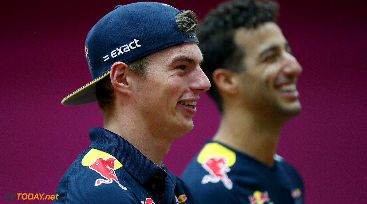 PUCHONG, MALAYSIA - SEPTEMBER 28:  Daniel Ricciardo of Australia and Red Bull Racing and Max Verstappen of Netherlands and Red Bull Racing play Malaysian sport sepak takraw at the iM4U Sentral in Puchong during previews for the Malaysia Formula One Grand Prix at Sepang Circuit on September 28, 2016 in Kuala Lumpur, Malaysia.  (Photo by Clive Rose/Getty Images) // Getty Images / Red Bull Content Pool  // P-20160928-05785 // Usage for editorial use only // Please go to www.redbullcontentpool.com for further information. //  F1 Grand Prix of Malaysia - Previews Clive Rose Kuala Lumpur Malaysia  P-20160928-05785