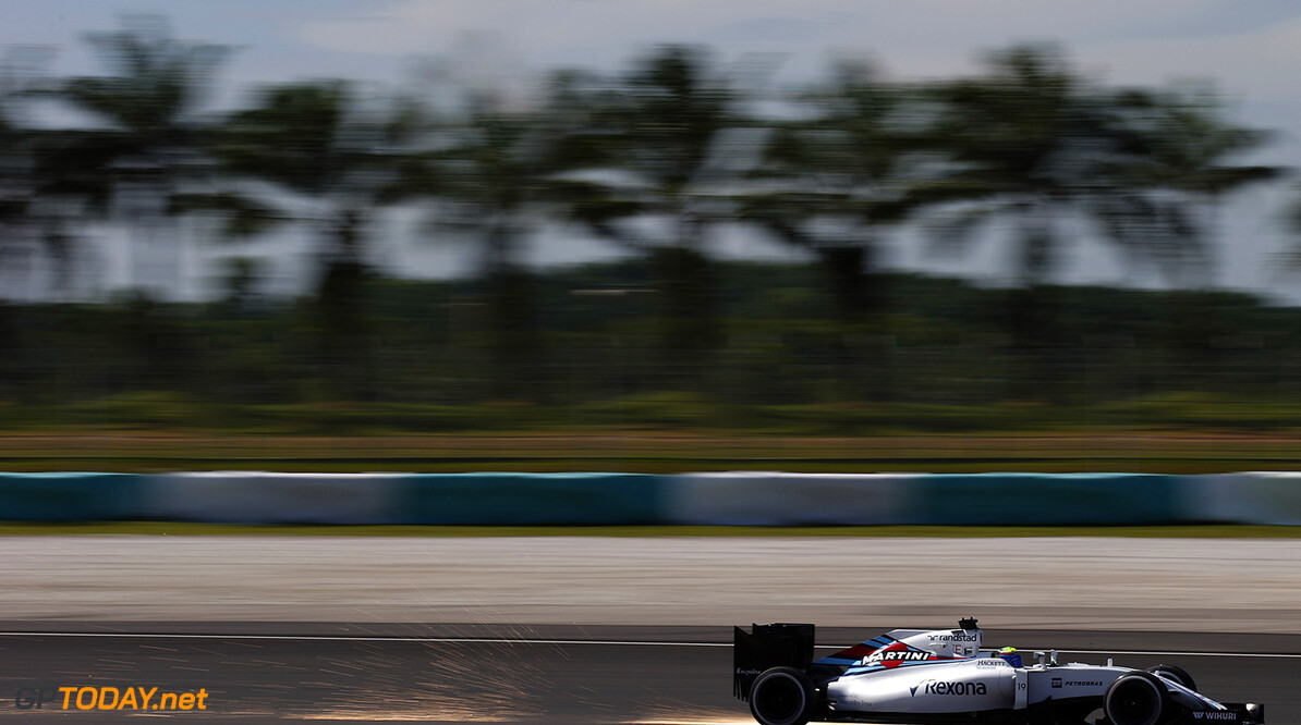 Sepang International Circuit, Sepang, Malaysia. Friday 30 September 2016. Felipe Massa, Williams FW38 Mercedes. Photo: Sam Bloxham/Williams ref: Digital Image _SLA3136  Steven Tee    Action