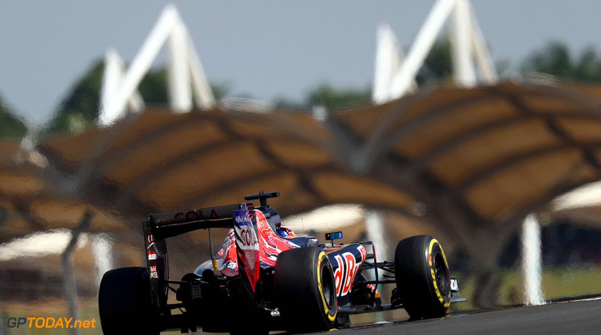 KUALA LUMPUR, MALAYSIA - OCTOBER 02:  Daniil Kvyat of Russia driving the (26) Scuderia Toro Rosso STR11 Ferrari 060/5 turbo on track during the Malaysia Formula One Grand Prix at Sepang Circuit on October 2, 2016 in Kuala Lumpur, Malaysia.  (Photo by Clive Rose/Getty Images) // Getty Images / Red Bull Content Pool  // P-20161002-01708 // Usage for editorial use only // Please go to www.redbullcontentpool.com for further information. //  F1 Grand Prix of Malaysia Clive Rose Kuala Lumpur Malaysia  P-20161002-01708
