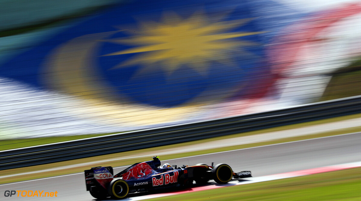 KUALA LUMPUR, MALAYSIA - OCTOBER 02:  Daniil Kvyat of Russia driving the (26) Scuderia Toro Rosso STR11 Ferrari 060/5 turbo on track during the Malaysia Formula One Grand Prix at Sepang Circuit on October 2, 2016 in Kuala Lumpur, Malaysia.  (Photo by Mark Thompson/Getty Images) // Getty Images / Red Bull Content Pool  // P-20161002-01726 // Usage for editorial use only // Please go to www.redbullcontentpool.com for further information. //  F1 Grand Prix of Malaysia Mark Thompson Kuala Lumpur Malaysia  P-20161002-01726