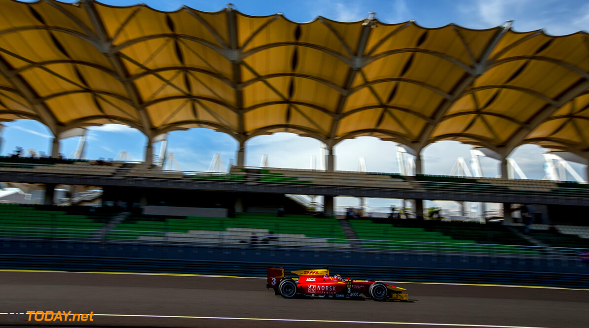 2016 GP2 Series Round 10. Sepang International Circuit, Sepang, Kuala Lumpur, Malaysia. Friday 30 September 2016. Norman Nato (FRA, Racing Engineering)  Photo: Zak Mauger/GP2 Series Media Service. ref: Digital Image _X0W8382   Zak Mauger    Qualifying action