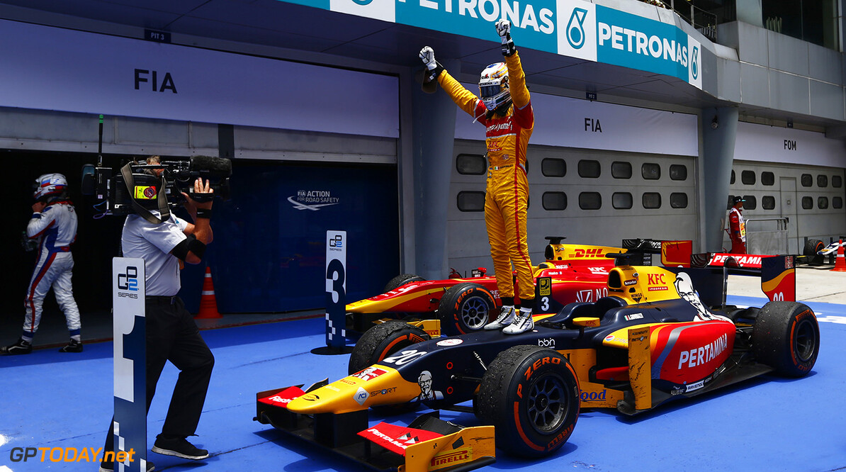 Antonio Giovinazzi (ITA, PREMA Racing)  2016 GP2 Series Round 10 Sepang International Circuit, Sepang, Malaysia. Saturday 1 October 2016  Photo: Zak Mauger/GP2 Series Media Service ref: Digital Image _X0W8853  Zak Mauger    ts-live
