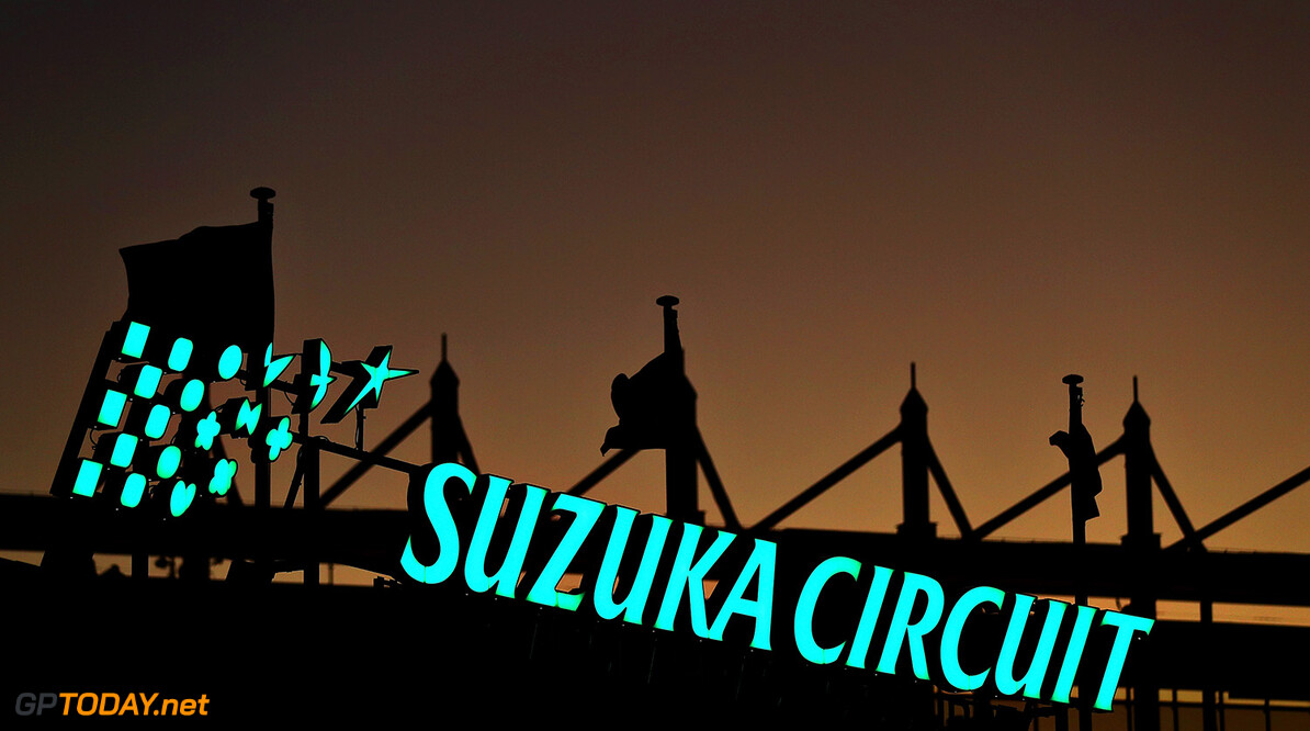 SUZUKA, JAPAN - OCTOBER 06: A general view of the Suzuka Circuit sign as the sun goes down during previews ahead of the Formula One Grand Prix of Japan at Suzuka Circuit on October 6, 2016 in Suzuka.  (Photo by Clive Rose/Getty Images) // Getty Images / Red Bull Content Pool  // P-20161006-01134 // Usage for editorial use only // Please go to www.redbullcontentpool.com for further information. //  F1 Grand Prix of Japan - Previews Clive Rose Suzuka Japan  P-20161006-01134