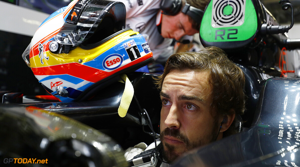 Fernando Alonso in cockpit.