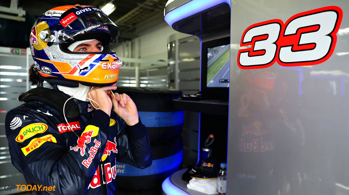 SUZUKA, JAPAN - OCTOBER 07:  Max Verstappen of Netherlands and Red Bull Racing gets ready in the garage during practice for the Formula One Grand Prix of Japan at Suzuka Circuit on October 7, 2016 in Suzuka.  (Photo by Mark Thompson/Getty Images) // Getty Images / Red Bull Content Pool  // P-20161007-00974 // Usage for editorial use only // Please go to www.redbullcontentpool.com for further information. //  F1 Grand Prix of Japan - Practice Mark Thompson Suzuka Japan  P-20161007-00974