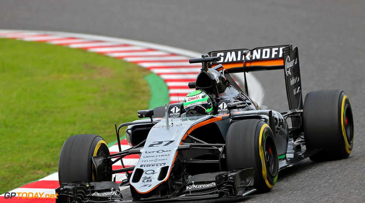 Formula One World Championship Nico Hulkenberg (GER) Sahara Force India F1 VJM09. Japanese Grand Prix, Friday 7th October 2016. Suzuka, Japan. Motor Racing - Formula One World Championship - Japanese Grand Prix - Practice Day - Suzuka, Japan James Moy Photography Suzuka Japan  Formula One Formula 1 F1 GP Grand Prix Circuit Japan Japanese Suzuka JM635 Hulkenberg H?lkenberg Huelkenberg Action Track GP1617b