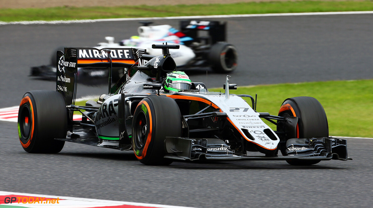 Formula One World Championship Nico Hulkenberg (GER) Sahara Force India F1 VJM09. Japanese Grand Prix, Sunday 9th October 2016. Suzuka, Japan. Motor Racing - Formula One World Championship - Japanese Grand Prix - Race Day - Suzuka, Japan James Moy Photography Suzuka Japan  Formula One Formula 1 F1 GP Grand Prix Circuit Japan Japanese Suzuka JM637 Hulkenberg H?lkenberg Huelkenberg Action Track GP1617d
