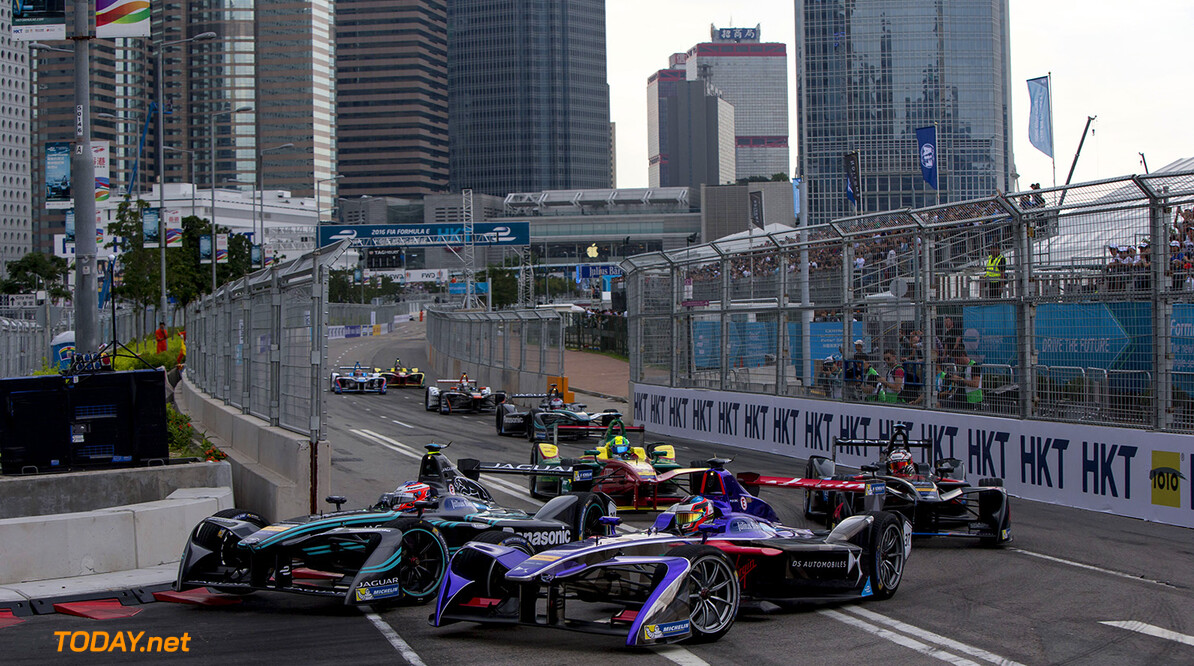 HONG KONG, CHINA - OCTOBER 9: In this handout image supplied by Formula E,