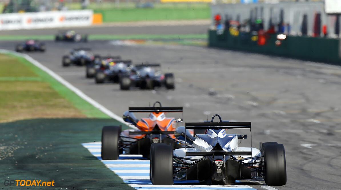 FIA Formula 3 European Championship, round 10, race 1, Hockenhei 5 Pedro Piquet (BRA, Van Amersfoort Racing, Dallara F312 - Mercedes-Benz), FIA Formula 3 European Championship, round 10, race 1, Hockenheimring (DEU), 14. - 16. October 2016 FIA Formula 3 European Championship 2016, round 10, race 1, Hockenheimring (DEU) Thomas Suer Hockenheim Germany