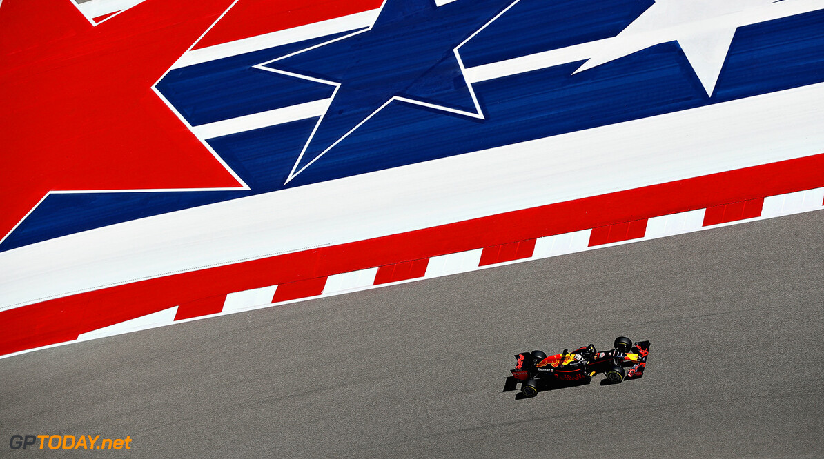 AUSTIN, TX - OCTOBER 21: Daniel Ricciardo of Australia driving the (3) Red Bull Racing Red Bull-TAG Heuer RB12 TAG Heuer on track during practice for the United States Formula One Grand Prix at Circuit of The Americas on October 21, 2016 in Austin, United States.  (Photo by Mark Thompson/Getty Images) // Getty Images / Red Bull Content Pool  // P-20161022-00285 // Usage for editorial use only // Please go to www.redbullcontentpool.com for further information. //  F1 Grand Prix of USA - Practice Mark Thompson Austin United States  P-20161022-00285