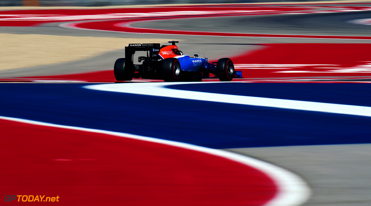 Formula One World Championship Pascal Wehrlein (GER) Manor Racing MRT05. 21.10.2016. Formula 1 World Championship, Rd 18, United States Grand Prix, Austin, Texas, USA, Practice Day. Motor Racing - Formula One World Championship - United States Grand Prix - Practice Day - Austin, USA Manor Marussia F1 Team Austin USA  Formel1 Formel F1 Formula 1 Formula1 GP Grand Prix one Circuit of The Americas COTA Texas USA United States of America Friday October 21 10 2016 Action Track