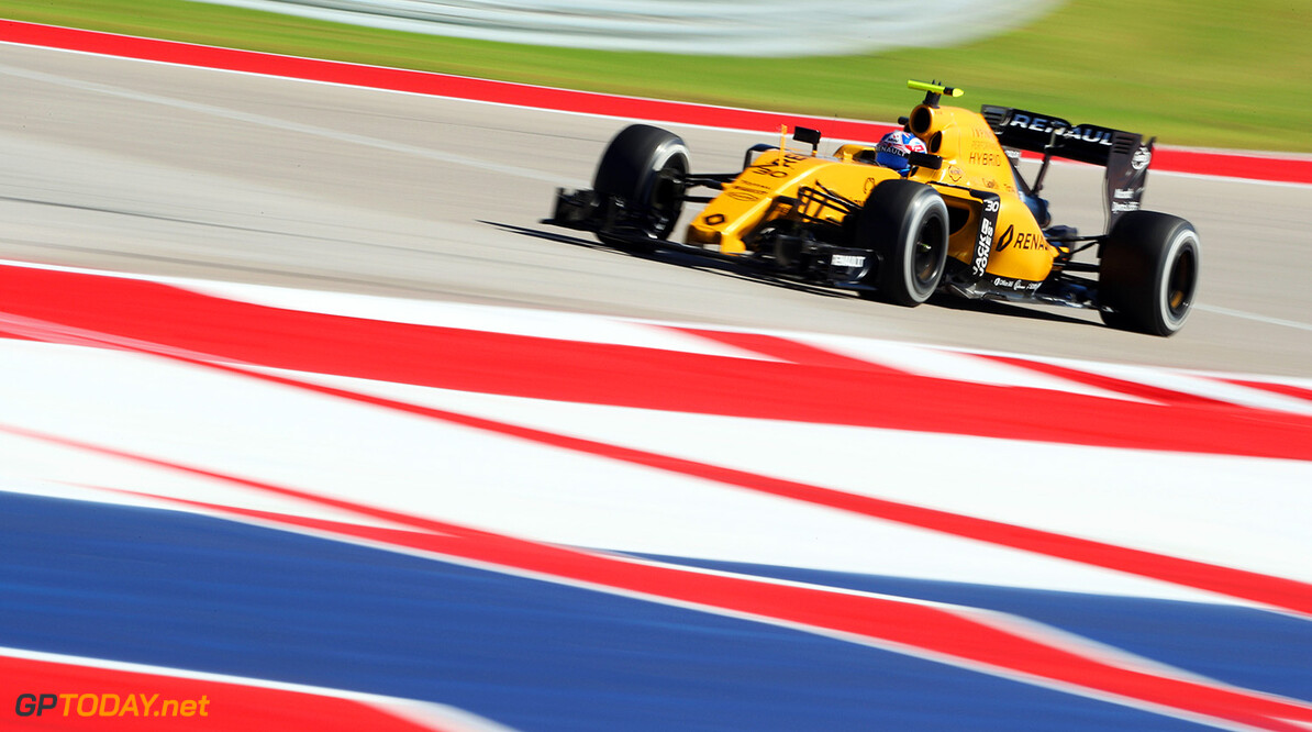 Formula One World Championship Jolyon Palmer (GBR) Renault Sport F1 Team RS16. United States Grand Prix, Friday 21st October 2016. Circuit of the Americas, Austin, Texas, USA. Motor Racing - Formula One World Championship - United States Grand Prix - Practice Day - Austin, USA Renault Sport Formula One Team Austin USA  Formula One Formula 1 F1 GP Grand Prix Circuit USA American United States of America COTA Circuit of the Americas Austin Texas TX JM641 Action Track GP1618b
