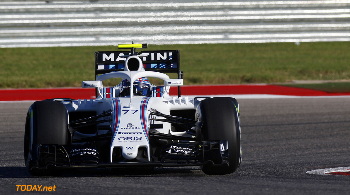 Circuit of the Americas, Austin Texas, USA. Friday 21 October 2016. Valtteri Bottas, Williams FW38 Mercedes, with Halo device fitted. World Copyright: Sam Bloxham/LAT Photographic ref: Digital Image _SBB0656  Al Staley    f1 formula 1 formula one grand prix gp cota Action