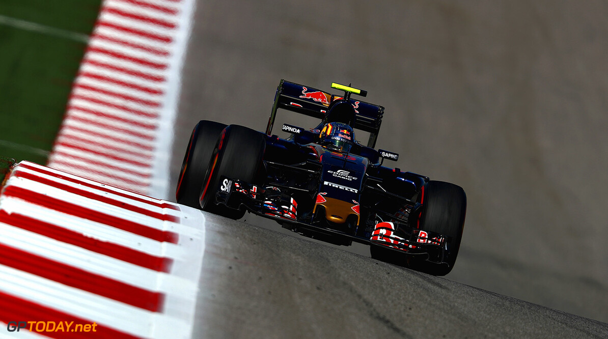 AUSTIN, TX - OCTOBER 21: Carlos Sainz of Spain driving the (55) Scuderia Toro Rosso STR11 Ferrari 060/5 turbo on track during practice for the United States Formula One Grand Prix at Circuit of The Americas on October 21, 2016 in Austin, United States.  (Photo by Clive Mason/Getty Images) // Getty Images / Red Bull Content Pool  // P-20161021-01586 // Usage for editorial use only // Please go to www.redbullcontentpool.com for further information. //  F1 Grand Prix of USA - Practice Clive Mason    P-20161021-01586