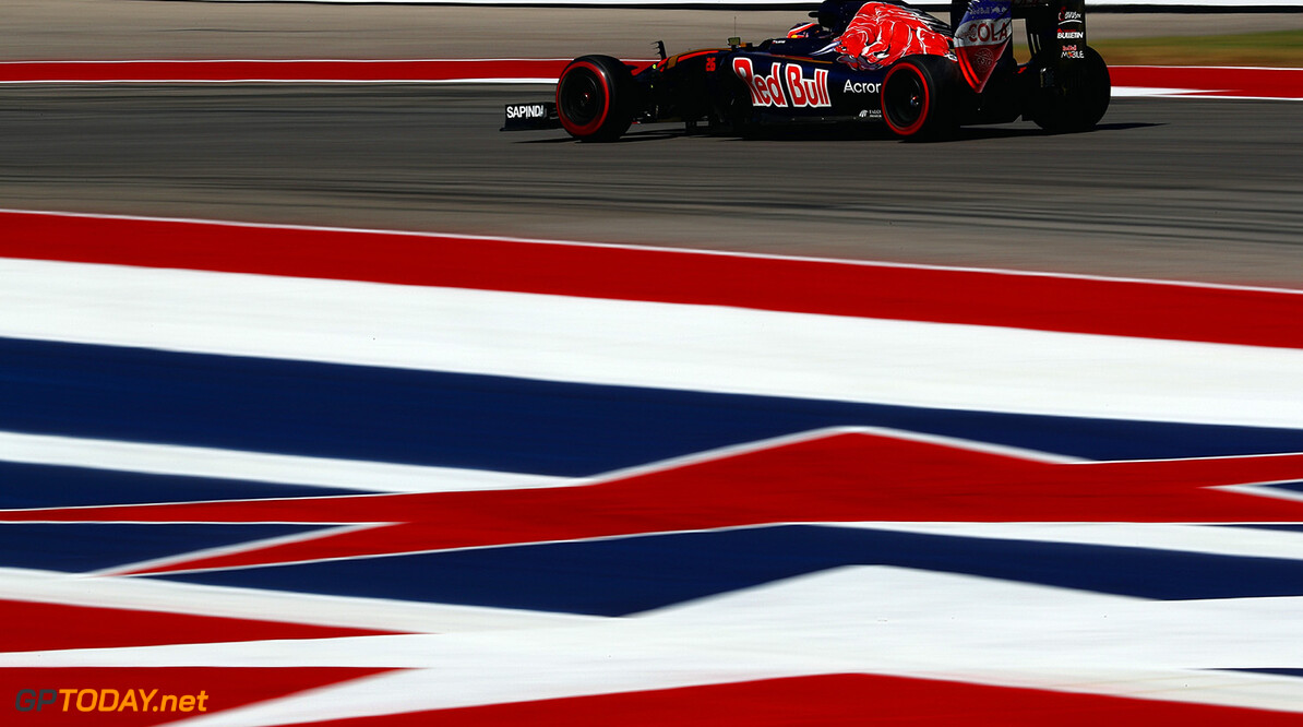 AUSTIN, TX - OCTOBER 21: Daniil Kvyat of Russia driving the (26) Scuderia Toro Rosso STR11 Ferrari 060/5 turbo on track during practice for the United States Formula One Grand Prix at Circuit of The Americas on October 21, 2016 in Austin, United States.  (Photo by Clive Mason/Getty Images) // Getty Images / Red Bull Content Pool  // P-20161022-00207 // Usage for editorial use only // Please go to www.redbullcontentpool.com for further information. //  F1 Grand Prix of USA - Practice Clive Mason    P-20161022-00207