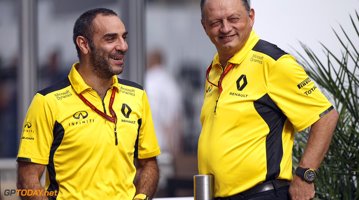 ABITEBOUL Cyril (fr) Renault Sport managing director ambiance portrait VASSEUR Frederic (fra) racing director Renault Sport Racing F1 team ambiance portrait   during the 2016 Formula One World Championship, United States of America Grand Prix from october 21 to 23 in Austin, Texas, USA - Photo Frederic Le Floch / DPPI. F1 - USA GRAND PRIX 2016 Frederic Le Floc'h Austin United States of America  Ameriques Auto Car Etats Unis D'amerique FORMULE 1 FORMULE UN Formula One Grand Prix MONOPLACE Motorsport October Octobre Race States UNIPLACE United Usa WORLD CHAMPIONSHIP f1 formula 1