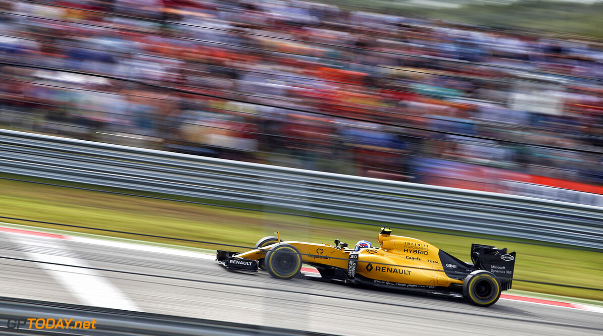 30 PALMER Jolyon (gbr) Renault RS16 action during the 2016 Formula One World Championship, United States of America Grand Prix from october 21 to 23 in Austin, Texas, USA - Photo Frederic Le Floch / DPPI. F1 - USA GRAND PRIX 2016 Frederic Le Floc'h Austin United States of America  Ameriques Auto Car Etats Unis D'amerique F1 Formula 1 Formula One Formule 1 Formule Un Grand Prix Monoplace Motorsport October Octobre Race States Uniplace United Usa World Championship