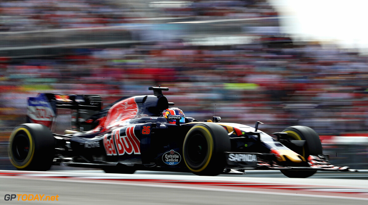 AUSTIN, TX - OCTOBER 23: Daniil Kvyat of Russia driving the (26) Scuderia Toro Rosso STR11 Ferrari 060/5 turbo on track during the United States Formula One Grand Prix at Circuit of The Americas on October 23, 2016 in Austin, United States.  (Photo by Mark Thompson/Getty Images) // Getty Images / Red Bull Content Pool  // P-20161024-00154 // Usage for editorial use only // Please go to www.redbullcontentpool.com for further information. //  F1 Grand Prix of USA Mark Thompson    P-20161024-00154